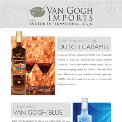 Van Gogh Vodka Newsletter